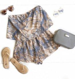 Blue Marble Tie Dye Romper