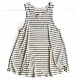 Grey Stripe Flowy Tank