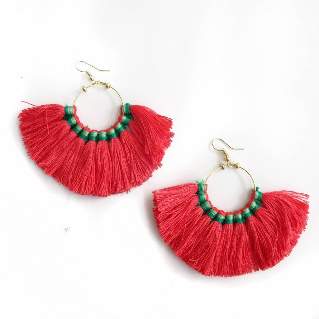 Fan Tassel Earrings