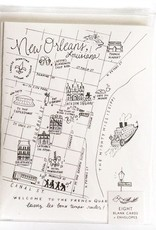 NOLA Pen and Ink Map Cards-Set of 8