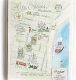 NOLA Watercolor Map Cards-Set of 8