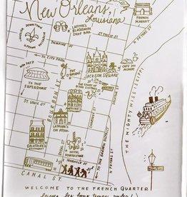 8x10 FQ Gold Foil Map Print