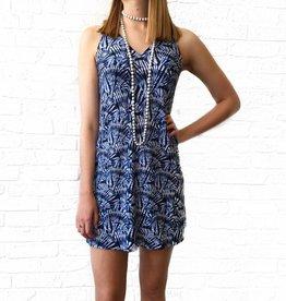 Blue Shelly Vneck Tank Dress