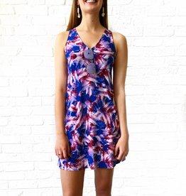 Feather Vneck Tank Dress