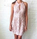 Blush Textured Lace Dress