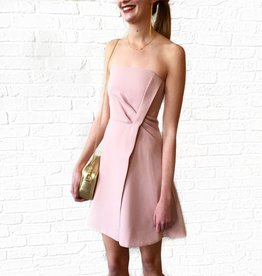 Come Apart Mini Dress- Peach