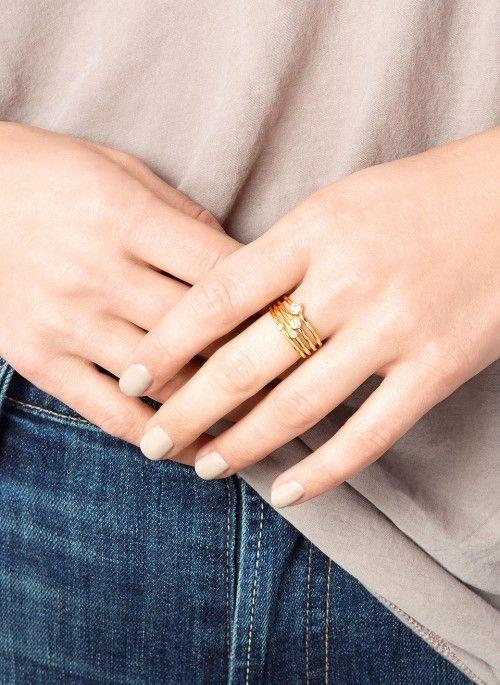 Shimmer Stacking Ring Set