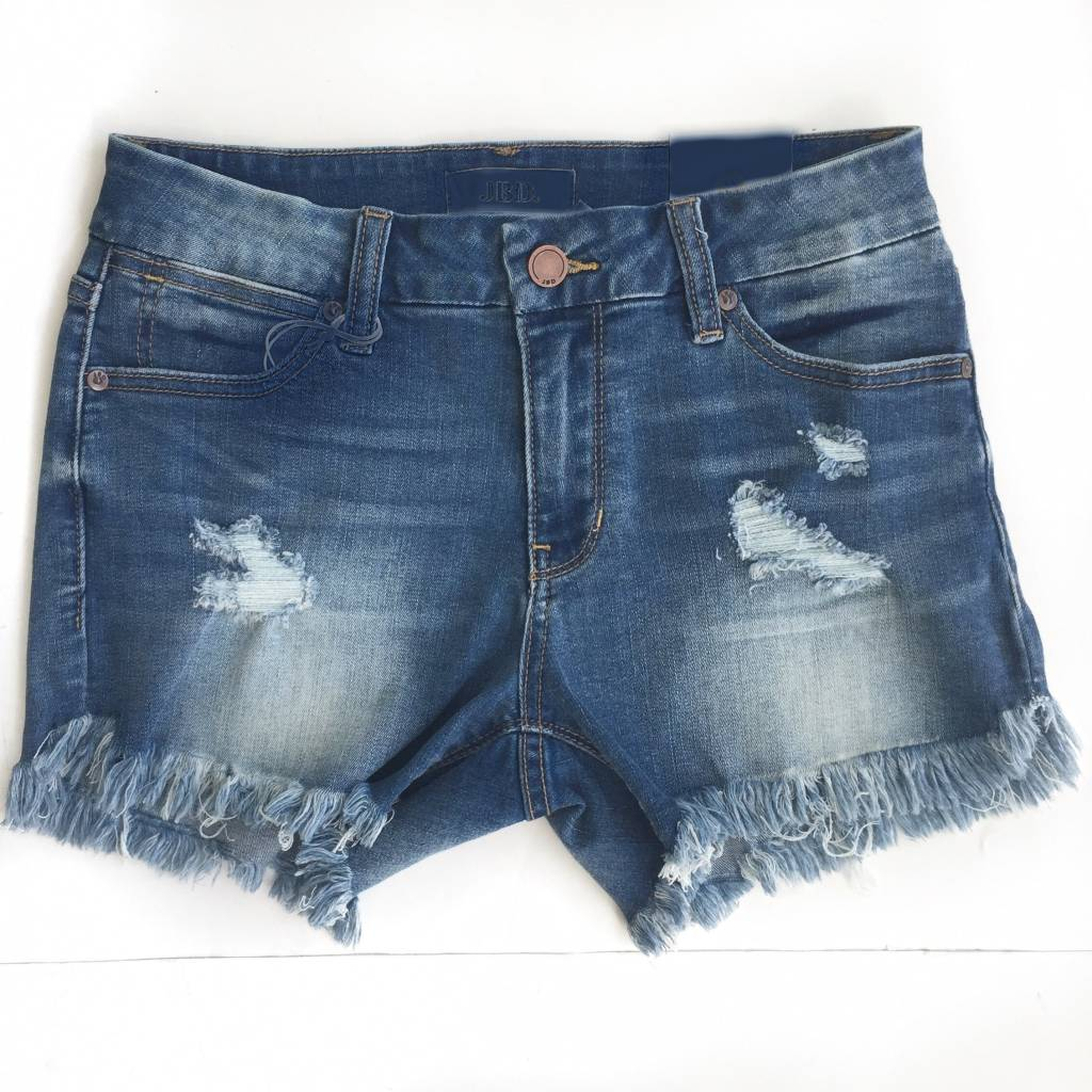Medium Frayed Hem Demin Shorts