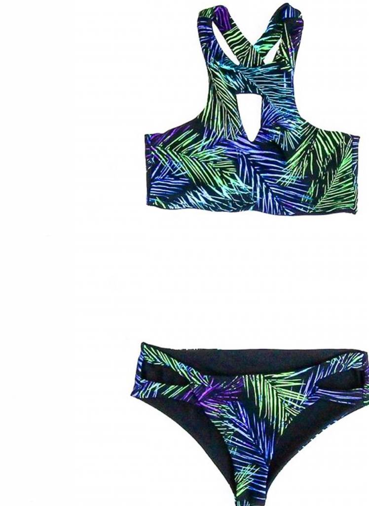 Palm Springs Cutout Crop Swim Set
