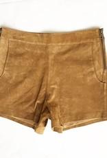 Camel Leather Short