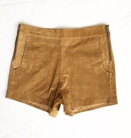 Camel Leather Short