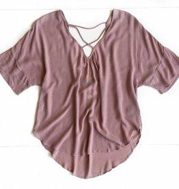 V-neck Indi Pink  Rayon Top