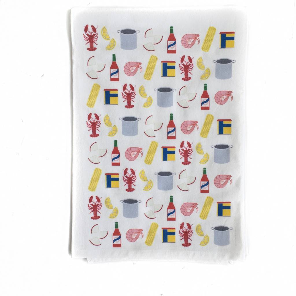 Crawfish Boil Hand Towel