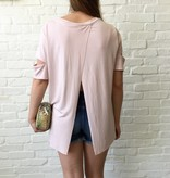 Blush S/S Open Back Tee
