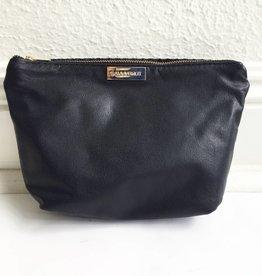 Patent Blk Snake/Matte Vanity Bag