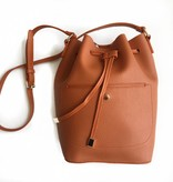 Saddle Drawstring Bucket Bag