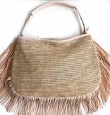 Sand Fringe Hobo Bag