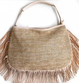 Sand Fringe Hobo Bag