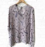 Lilac Feather Kimono