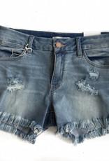 Light Frayed Hem Demin Shorts