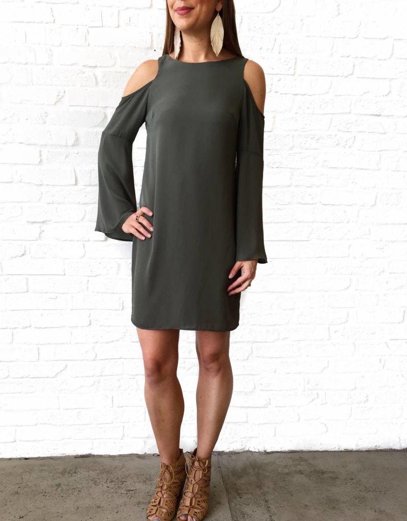Olive Cold Shoulder Dress