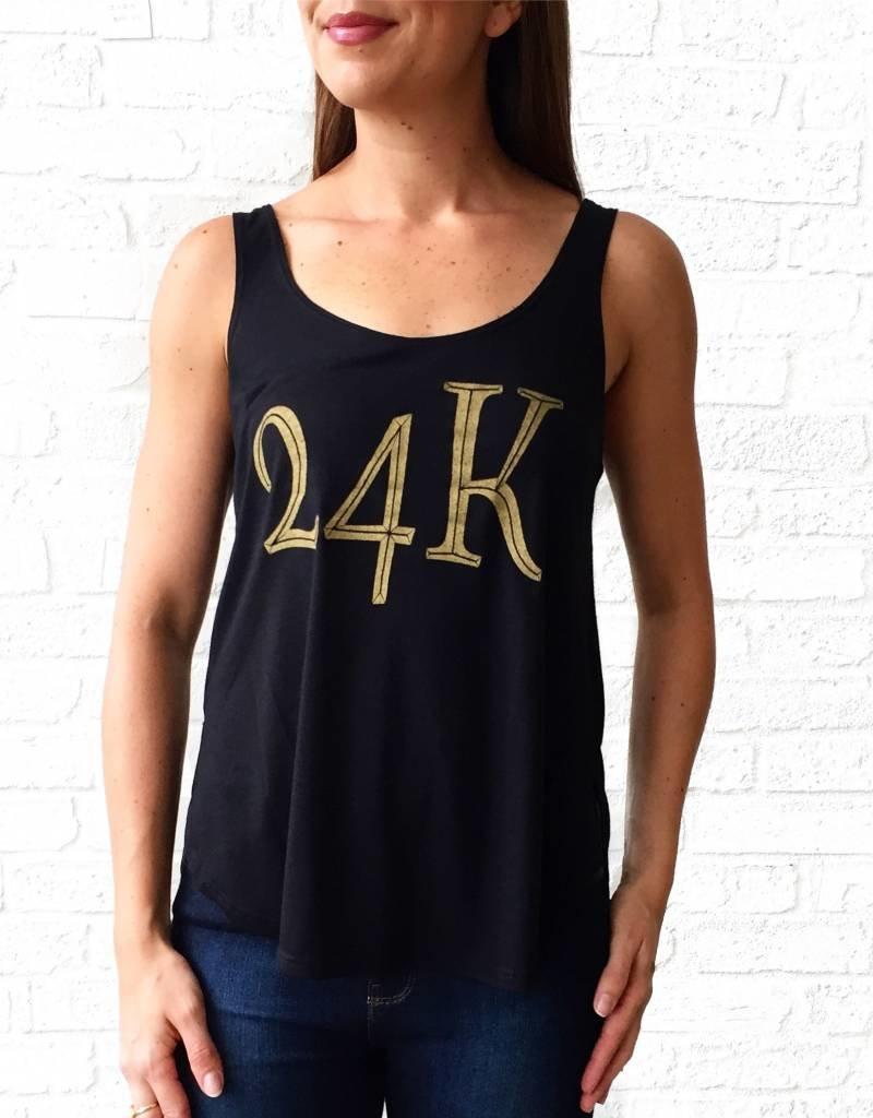 24 K Gold Black Tank