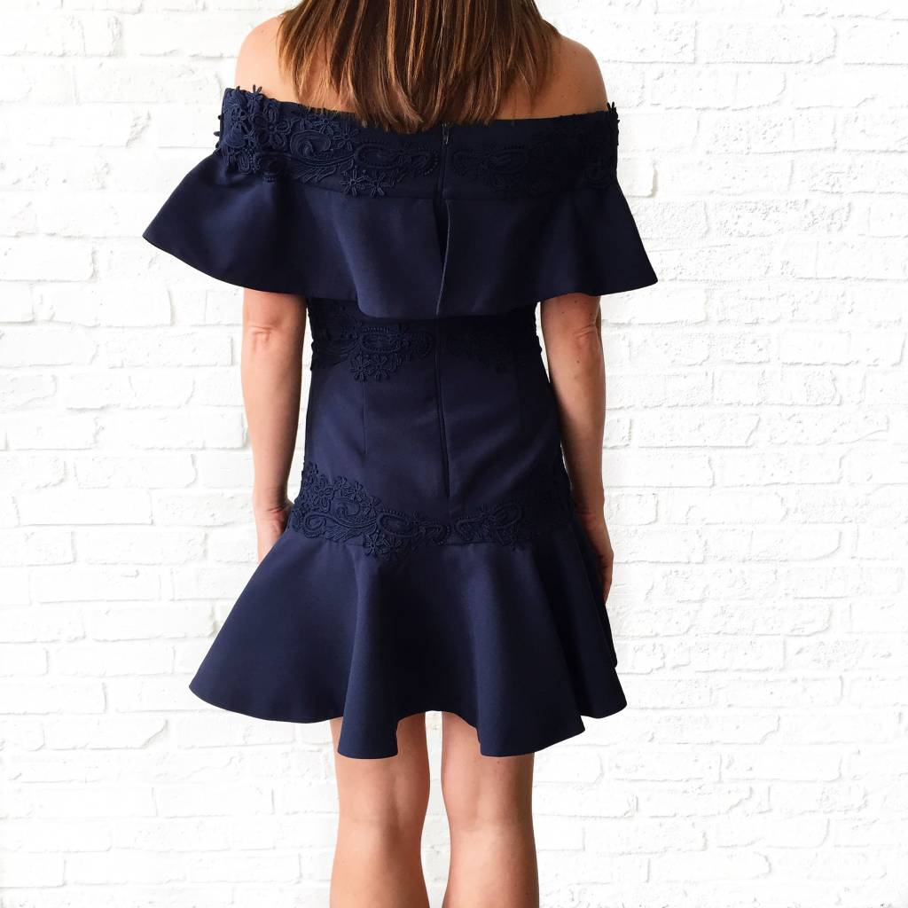 Sweet Dreams Mini Dress-Navy