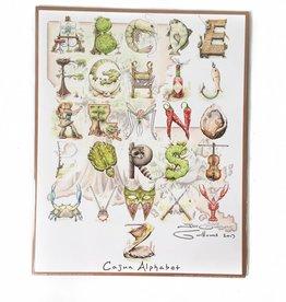 Jon Guillaume Cajun Alphabet Print