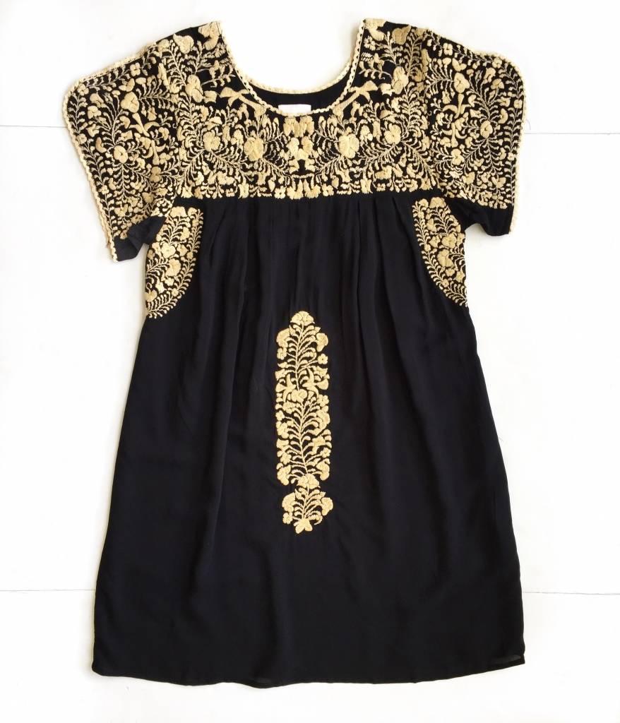 Buddylove Black Cream Embroidered Dress
