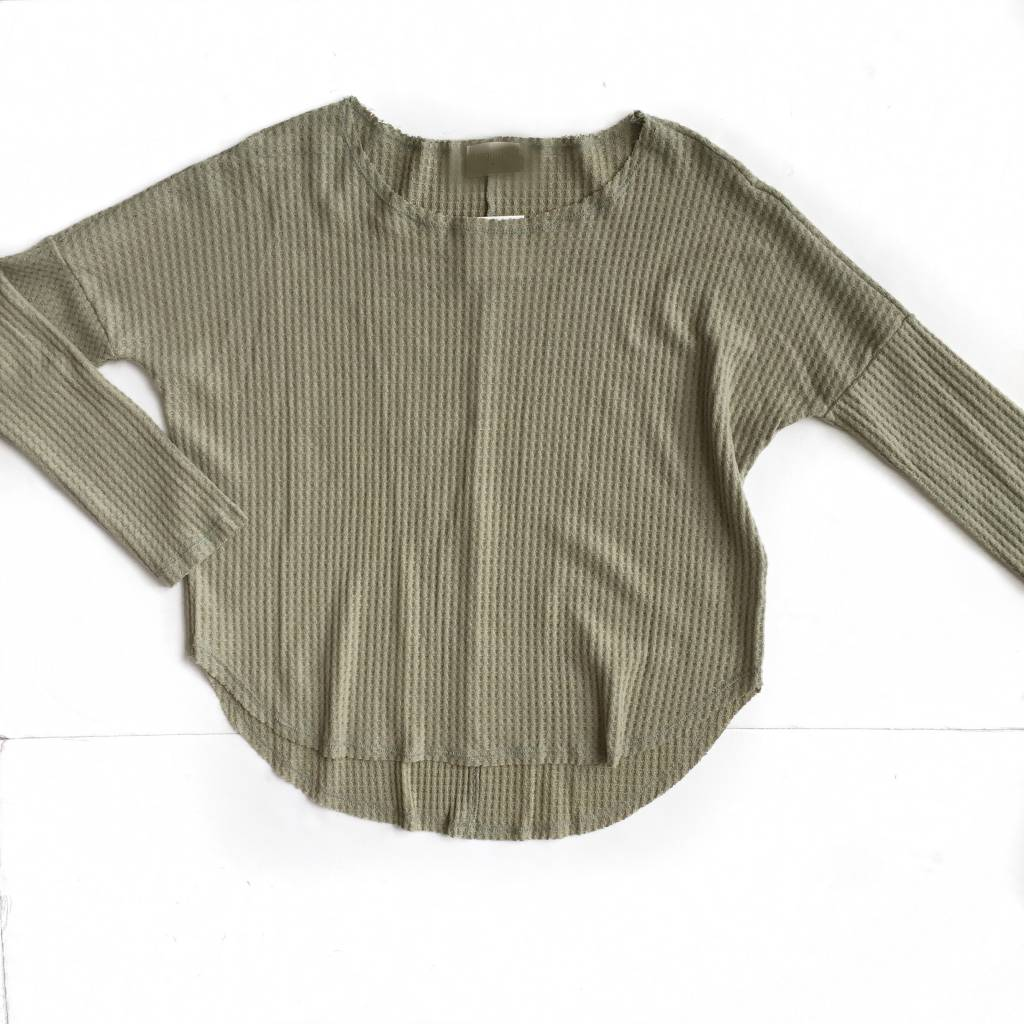 Everly Sage Slouchy Knit Sweater
