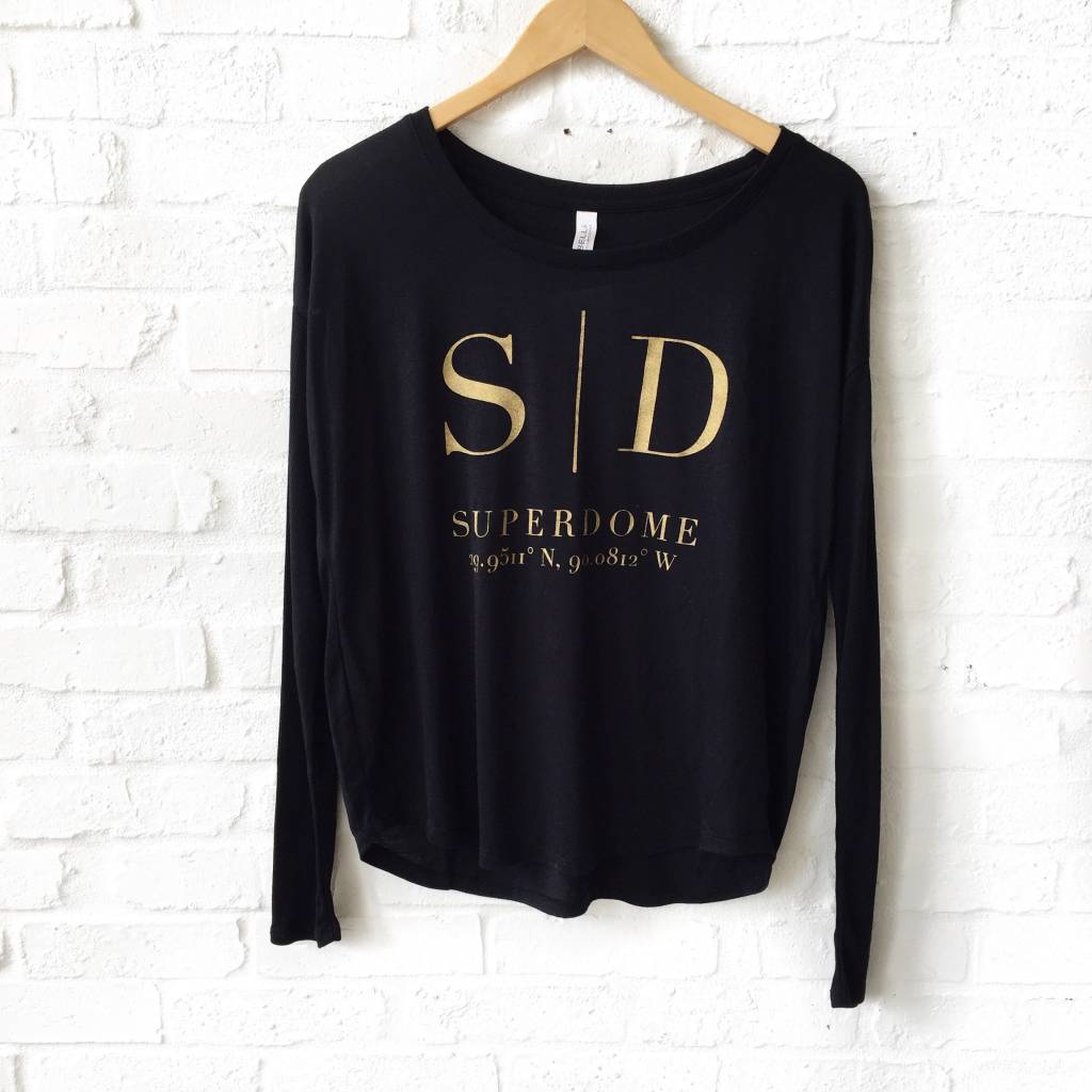 Superdome Black Long Sleeve