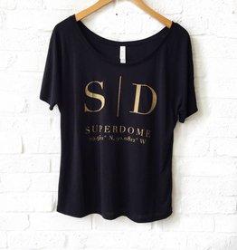 Lauren Schnell Black Superdome Coord. Tee