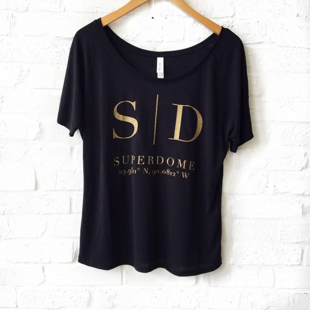 Black Superdome Coord. Tee