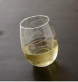 NOLA Map Stemless Wine Glass