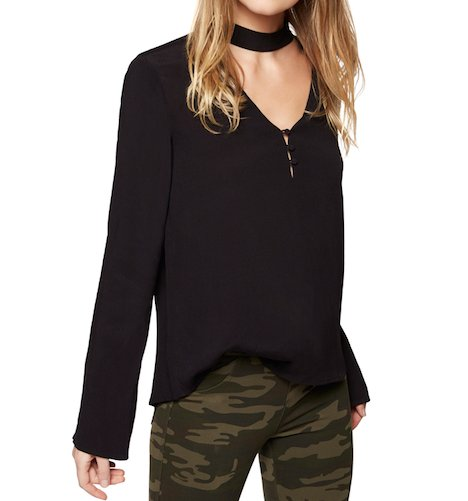 Raven Black Choker Top