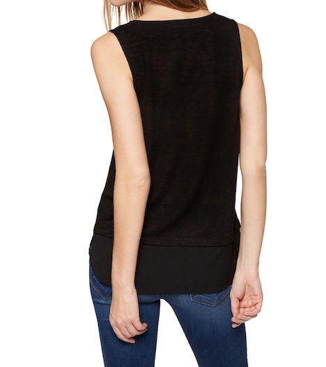 Sanctuary Emma Shell Tank-Black