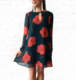 Cupcakes and Cashmere Red/Green Floral Dress