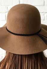 Small Brim Felt Floppy Hat