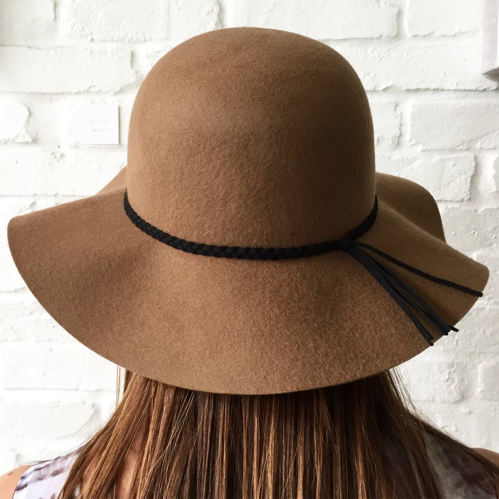 Small Brim Felt Floppy Hat