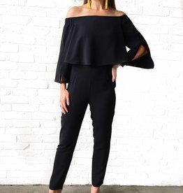 Do & Be Black Off Shoulder Jumpsuit