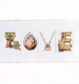 "Jon Guillaume 12x24 ""LOVE"" Print"