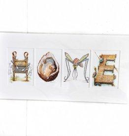 "Jon Guillaume 12x24 ""HOME"" Print"