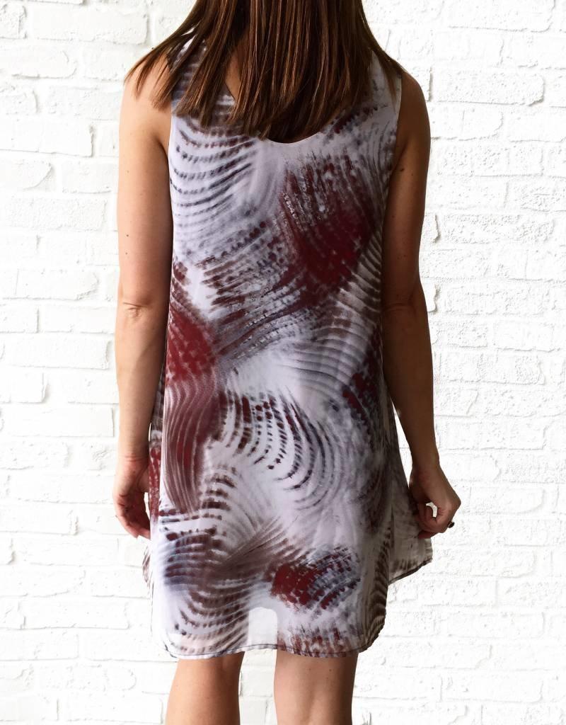 Ruby Wave Mini Dress