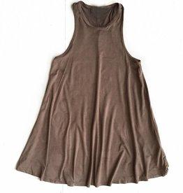 Light Mocha Suede Tank Dress