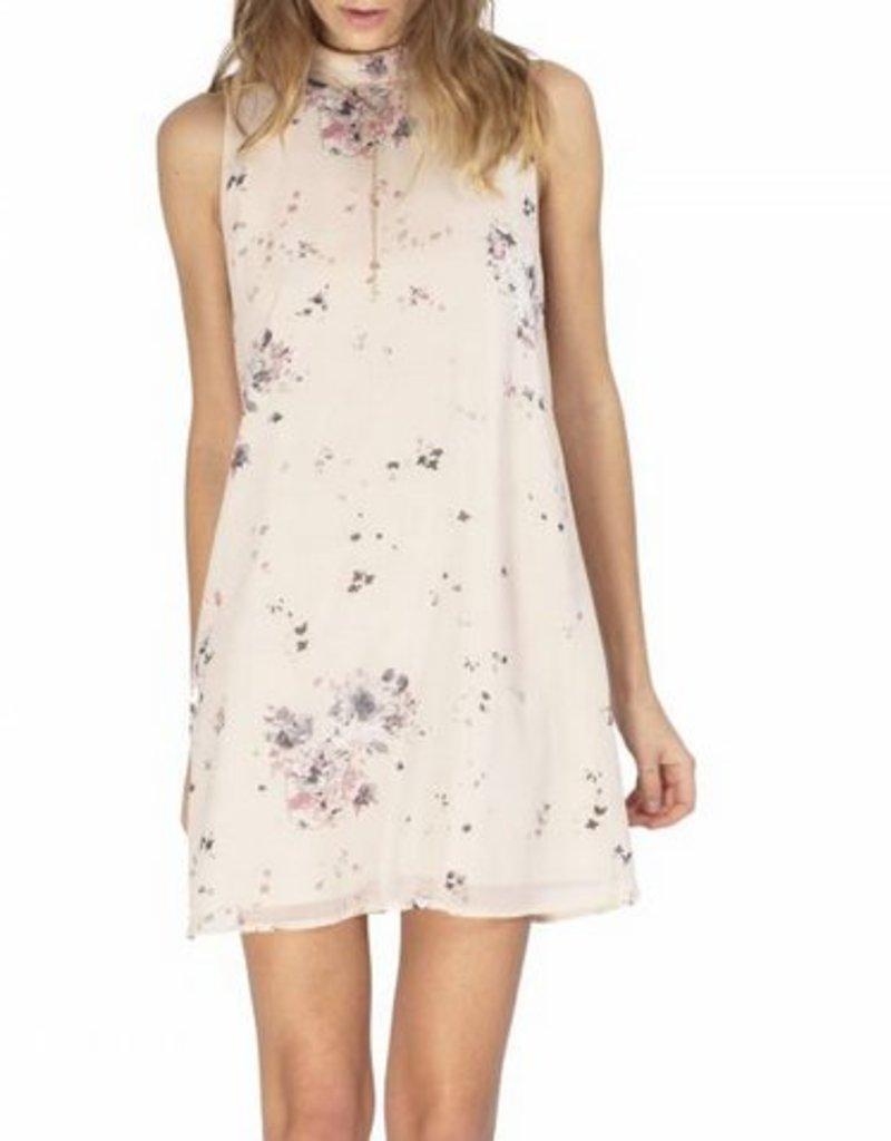 Feather Floral S/L Paige Dress