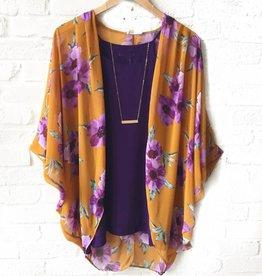 LSU Floral Kimono