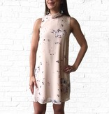 Feather Floral S/L Paige Dress