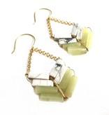 8 Stone Marble/Serp Arrow Earring