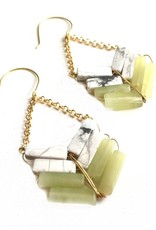8 Stone Marble/Serp Arrow Earring