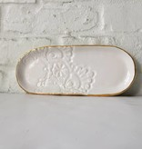 White Lace Oval Jewlery Tray